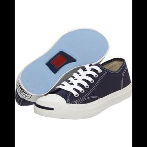 Converse Jack Purcell blue canvas low tops